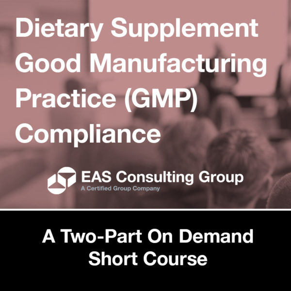 DS GMP Compliance