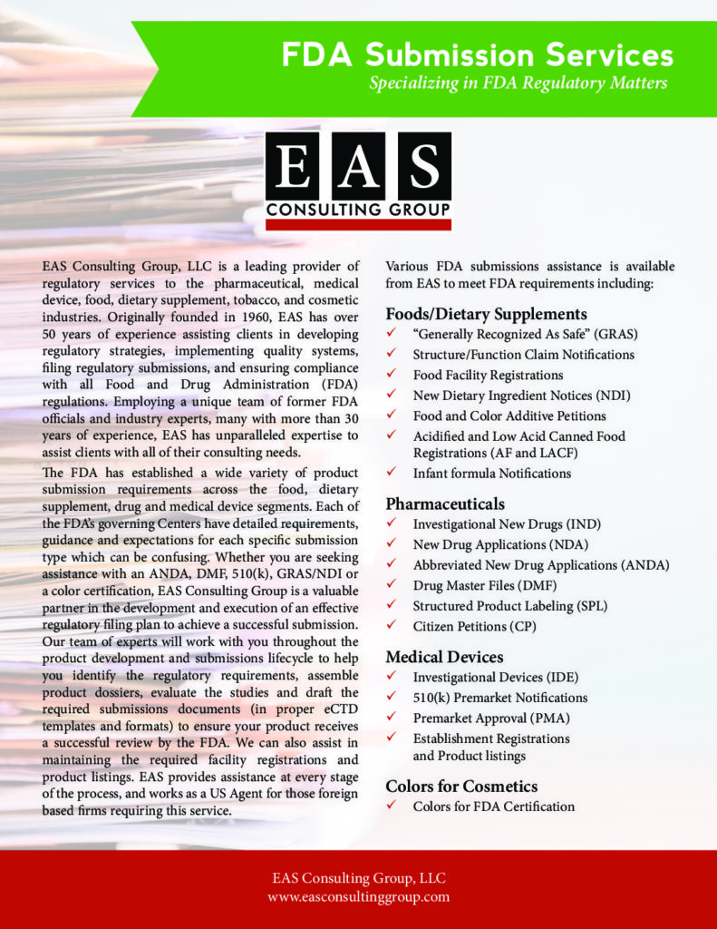 Service Information Sheets - EAS Consulting Group