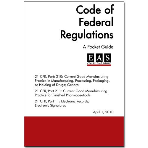 EAS Pocket Guide 21 CFR Part 210 211 11 Cover
