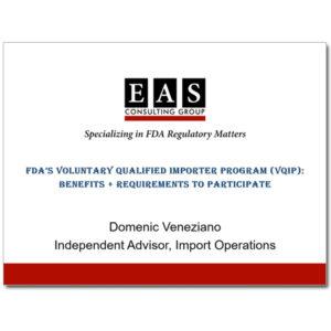 EAS Product Webinar VQIP