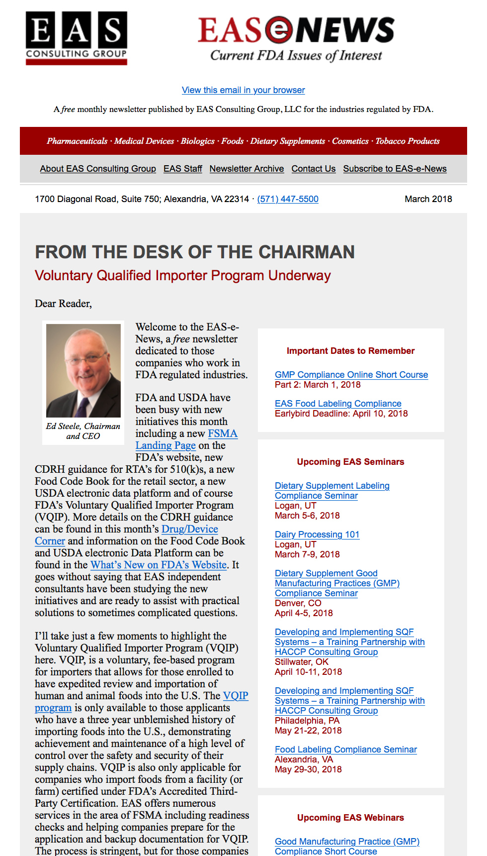 EAS-e-News March 2019