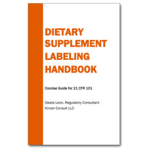 Dietary Supplement Labeling Handbook 21 CFR 101 Leon