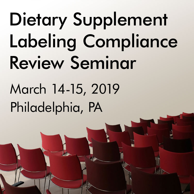 Dietary Supplement Labeling Seminar