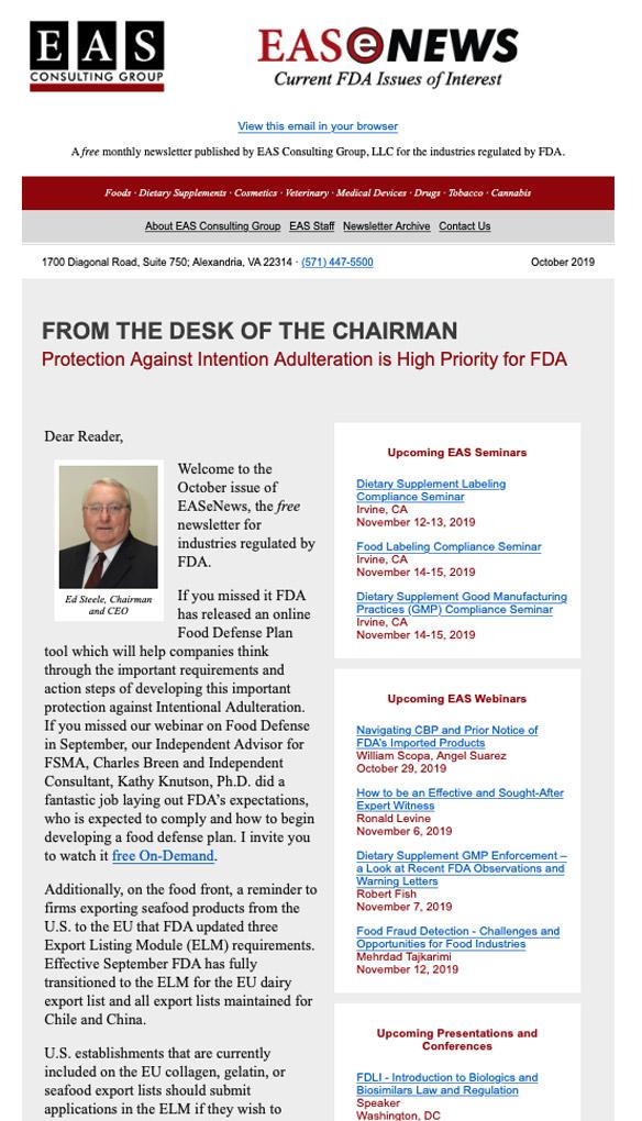 EAS-e-News October 2019