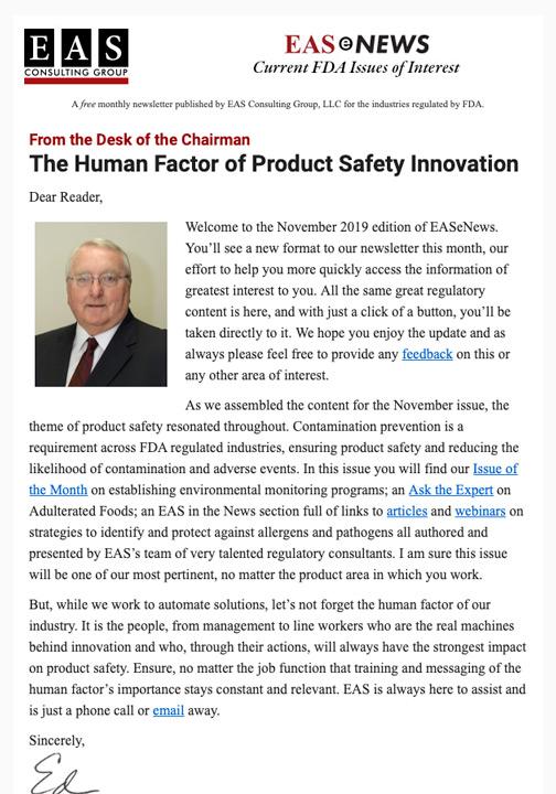 EAS-e-News November 2019