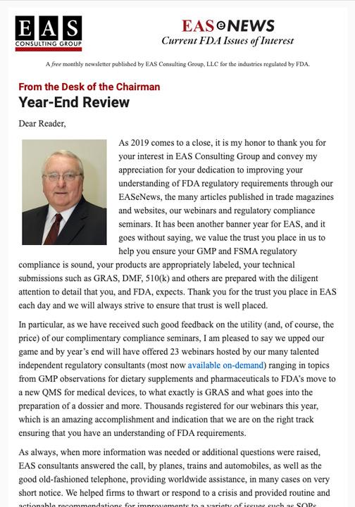 EAS-e-News December 2019