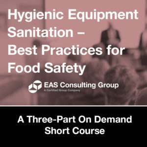 Product-Seminar 2020 Equipment Sanitation Short Course