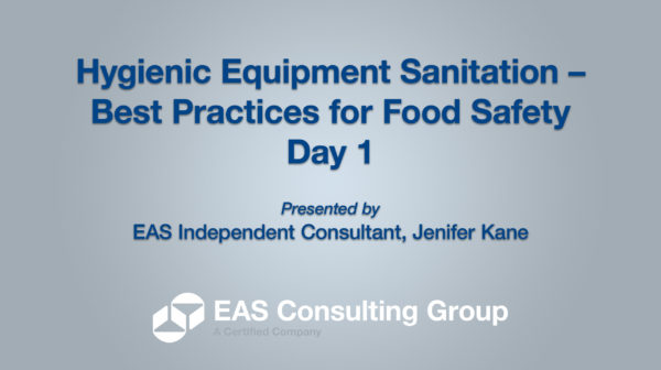 YouTube-Opening Screen 2020 Equipment Sanitation Short Course Day 1