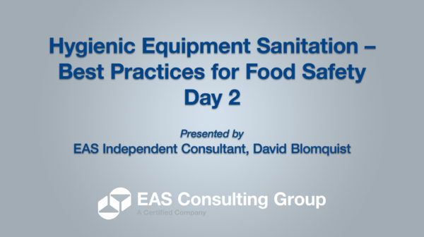 YouTube-Opening Screen 2020 Equipment Sanitation Short Course Day 2