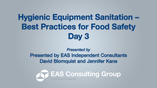 YouTube-Opening Screen 2020 Equipment Sanitation Short Course Day 3