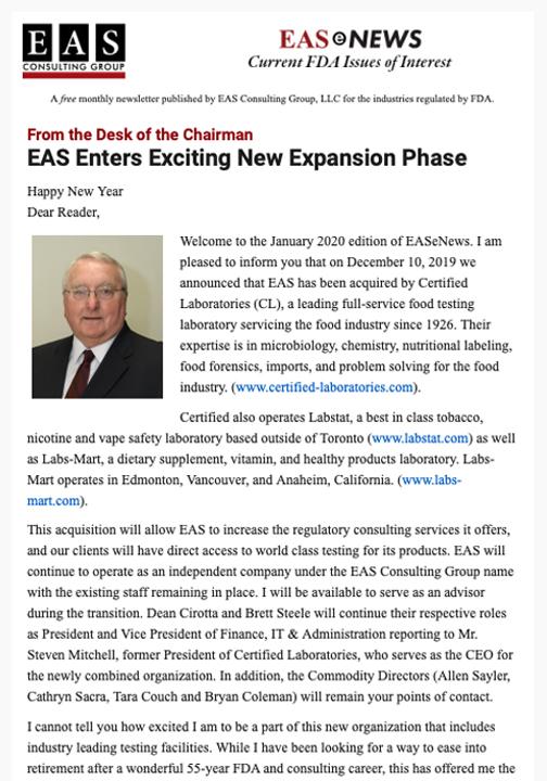 EAS-e-News January 2020
