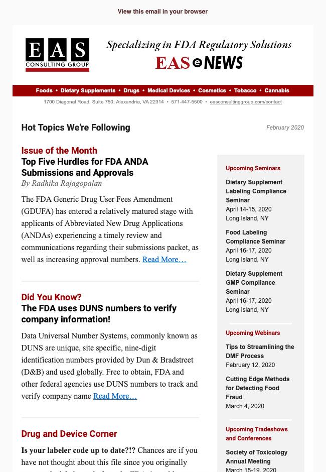 EAS-e-News February 2020