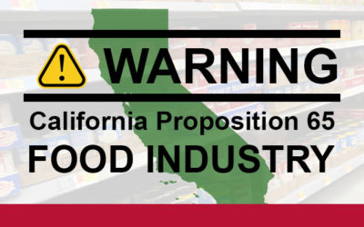 California Proposition 65 and the Food Industry