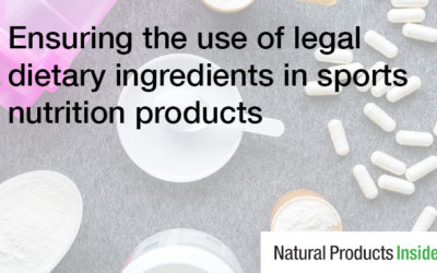 Using Legal Dietary Ingredients in Sports Nutrition Products