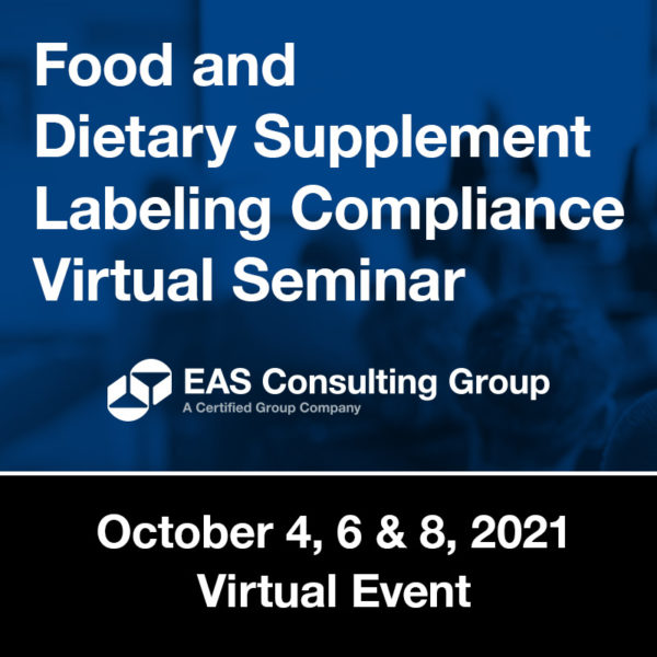 Seminar - Food and DS Labeling Compliance