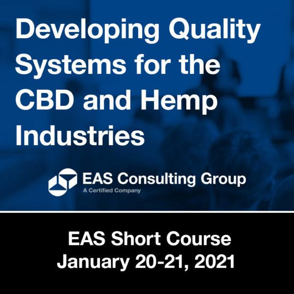 Product-Seminar 2020 Short Course QC for Cannabis & Hemp