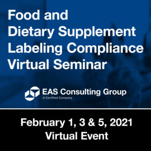 Product Seminar Food DS Labeling Compliance Virtual Seminar February 21