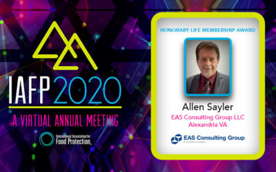 Allen Sayer was Awarded Honorary Life Member by the IAFP