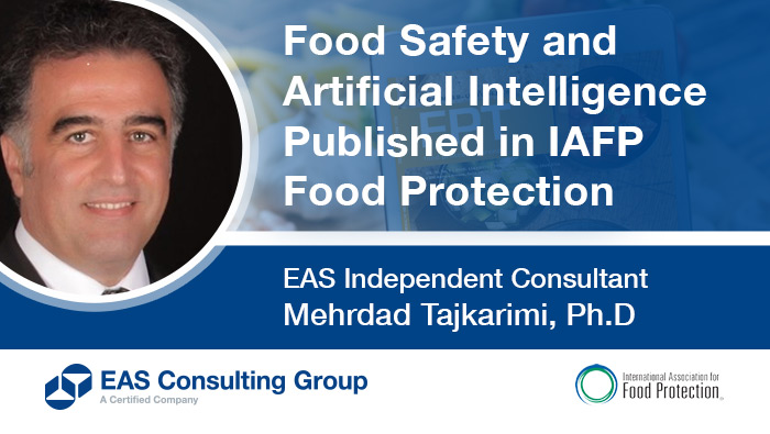 Food Safety and Artificial Intelligence Published in IAFP Food Protection Trends