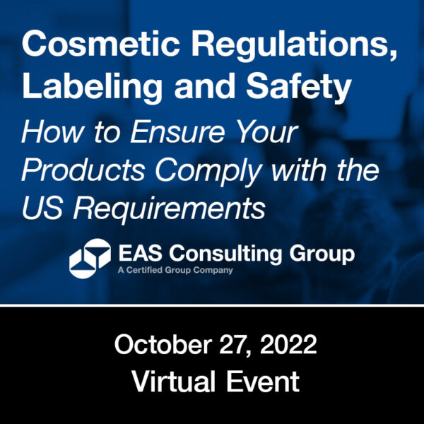 Seminar Cosmetic Regulations Labeling and Safety