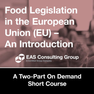 Food Legislation in the EU - Short Course