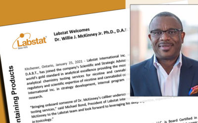 Noted Tobacco Expert Joins Labstat's Scientific and Strategic Advisory Board