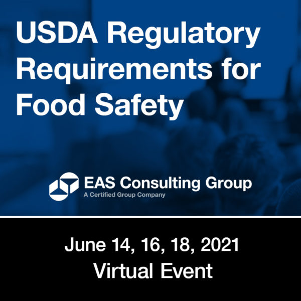 Seminar - USDA Regulatory Requirements for Food Safety