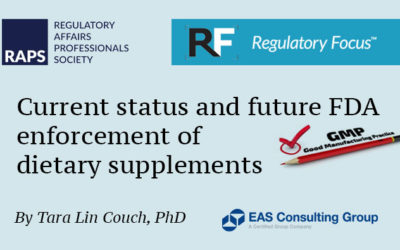 Tara Couch Discusses FDA Enforcement of Dietary Supplements in RAPS Regulatory Focus